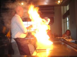 Flaming Japanese dinner show