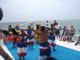 Dancing on tour boat!